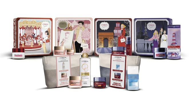 Diferentes cofres de productos cosméticos. PVP: Entre 9.90€ y 27.86€