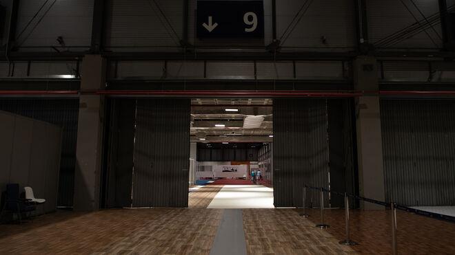 Entrada al pabellón 9 desde el 7, donde todavía quedan pacientes