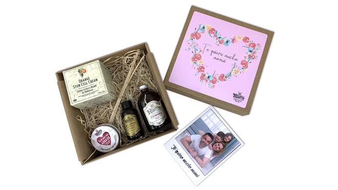 Paquete de regalo personalizado con productos cosméticos. PVP: 35€