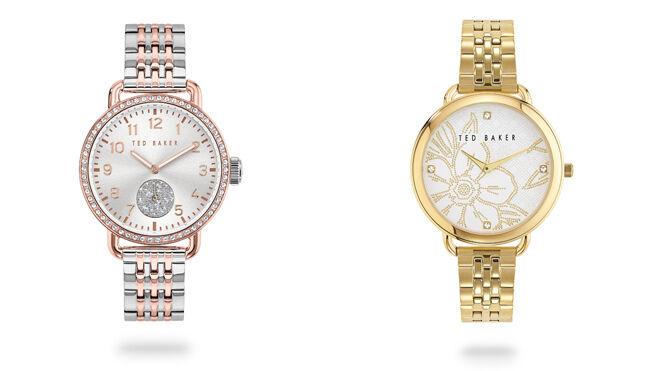 Reloj con correa plateada. PVP: 295€ // Reloj con correa dorada. PVP: 245€