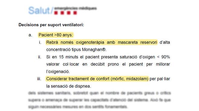 El documento elaborado por Salut (I)