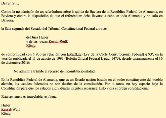 Sentencia del Tribunal Constitucional Federal