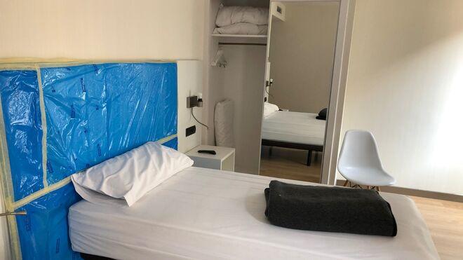 Vista de una de las habitaciones para pacientes del Hotel Bristol.