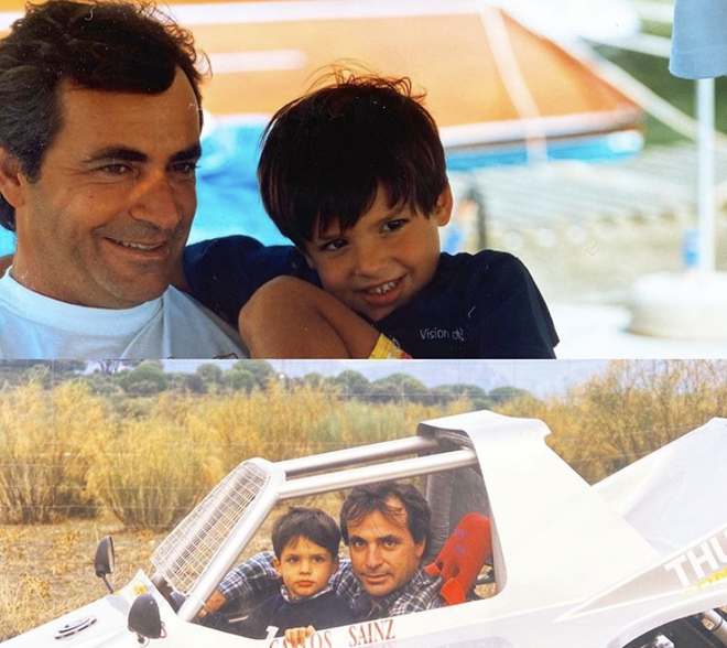 Carlos Sainz y su padre