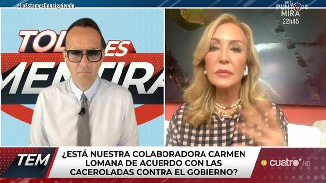 """Carmen Lomana confiesa: """"Tengo para comer pero no sé por cuánto tiempo""""."""