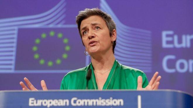 La comisaria europea de la Competencia y vicepresidenta de la Comisión Europea, Margrethe Vestager.