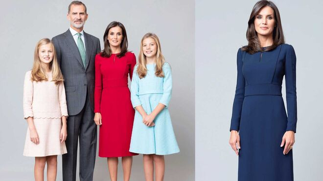Fotos oficiales de los reyes Felipe y Letizia, con sus hijas.