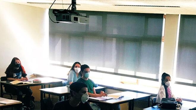 Imagen de un aula en Portugal.
