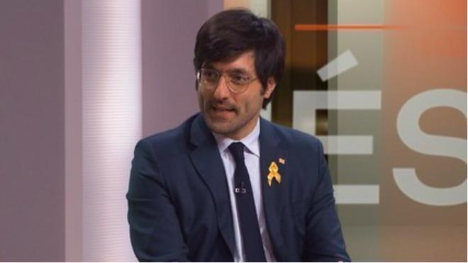 Joan Maria Piqué, jefe de prensa de Miquel Buch, en una entrevista en TV3