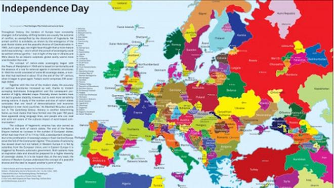 Mosaico de territorios y lenguas que conforman Europa