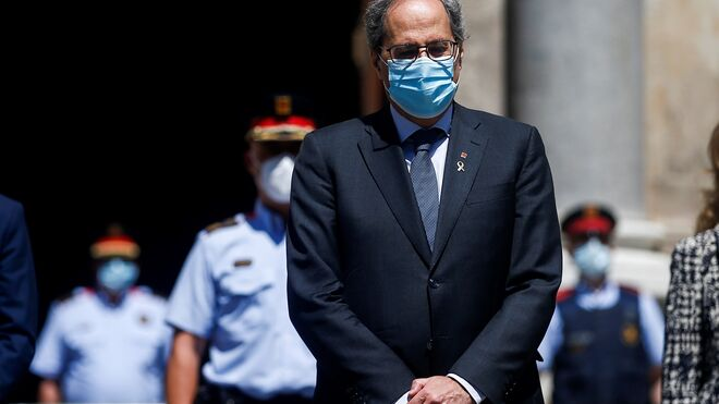 """Torra llegó a decir a medios internacionales que Cataluña había """"perdido autonomía en el ámbito sanitario"""""""