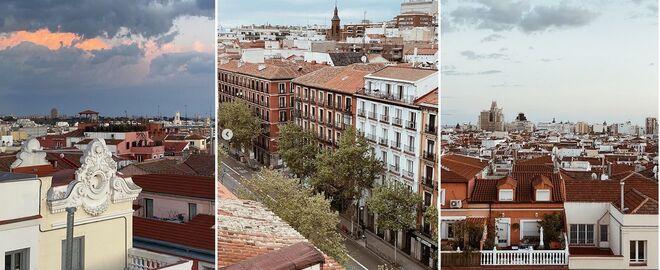 Vistas desde la ventana de su casa en Madrid.