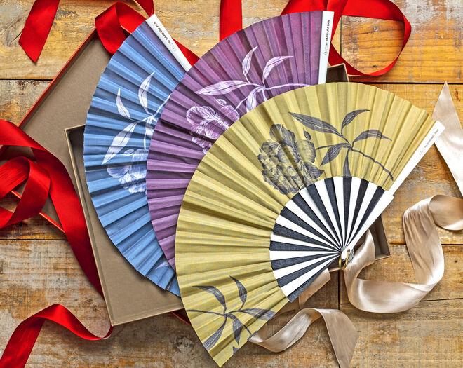Abanicos diseñados por Bárbara Pan. PVP: 44€/unidad