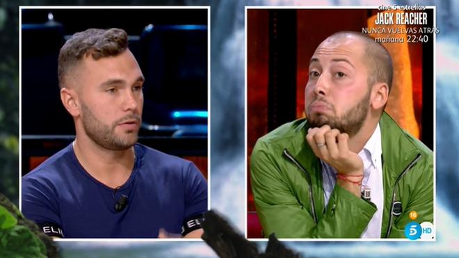 José Antonio Avilés y Cristian Suescun en el debate final de 'Supervivientes'