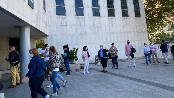 Imagen de los juzgados de Plaza Castilla tras el levantamiento de plazos procesales.