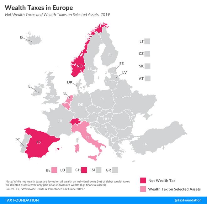 Impuestos a la riqueza en Europa