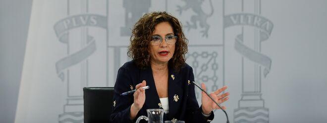 María Jesús Montero en la comparecencia tras el Consejo de Ministros