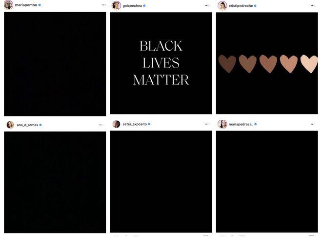 Las influencers, actrices, modelos... se suman al Black Lives Matter