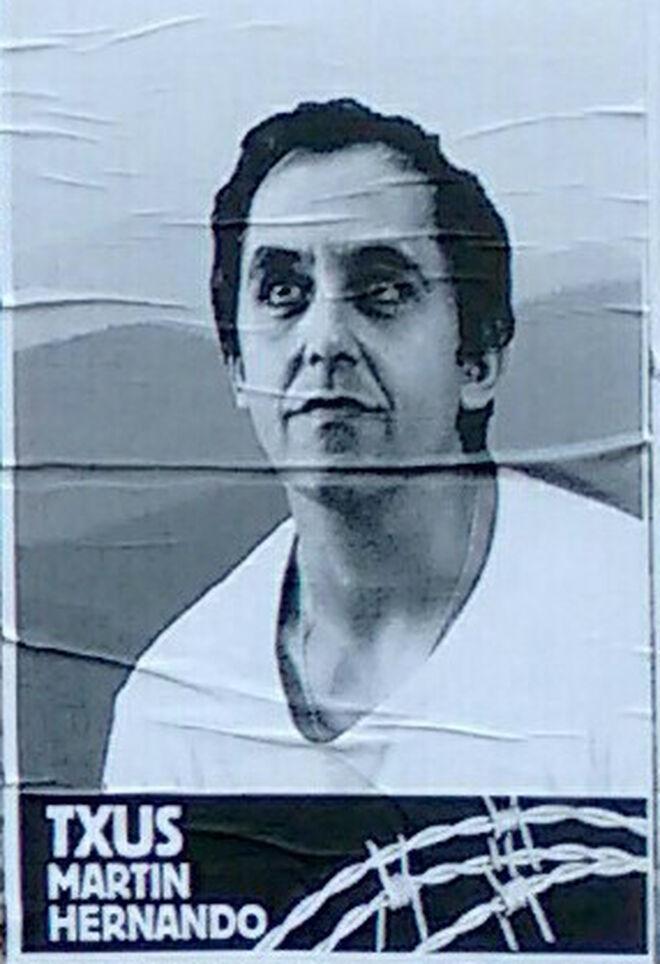 Un cartel pidiendo la liberación del etarra Txus Martín Hernando