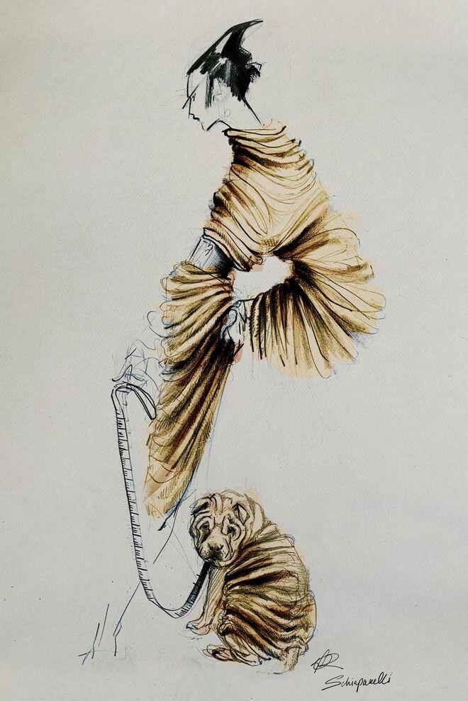 Boceto creado para la presentación virtual de la nueva colección