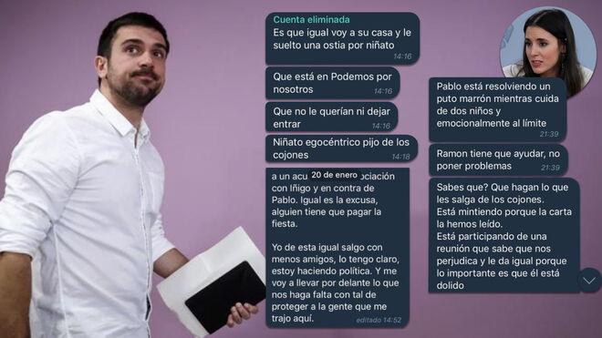 Chat de Podemos antes de la dimisión de Ramón Espinar