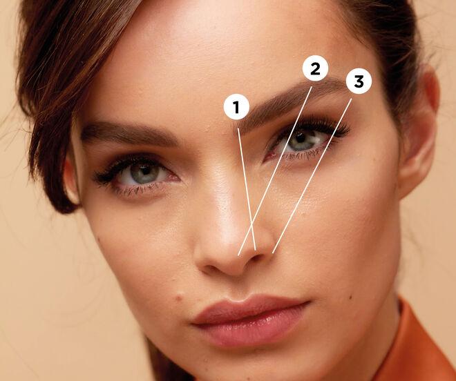 Proceso de depilación de cejas