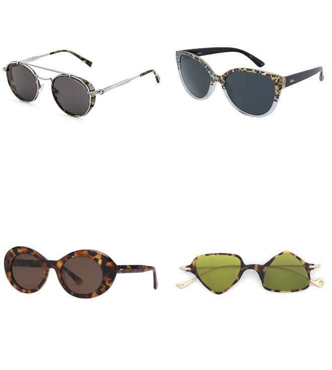 THOMAS SABO Gafas de metal. PVP: 179€ // ALAIN AFFLELOU Gafas 'print animal'. PVP: 49€ // COTTET Gafas montura de gata. PVP: 44.50€ // EYEPETIZER Gafas cristales triangulares. PVP: 155€