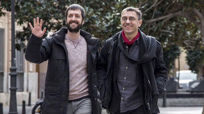 Juanma del Olmo y Juan Carlos Monedero