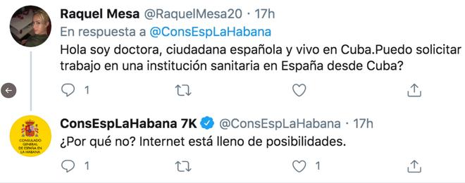 Respuesta sarcástica a una ciudadana española