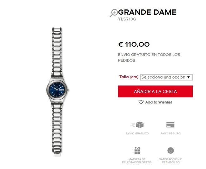 El modelo de reloj de Irene Montero.
