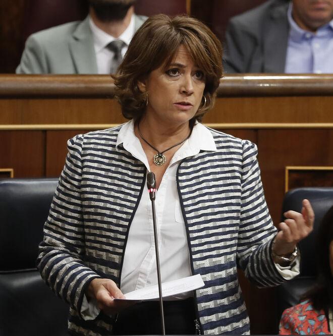 Dolores Delgado cuando era ministra del PSOE