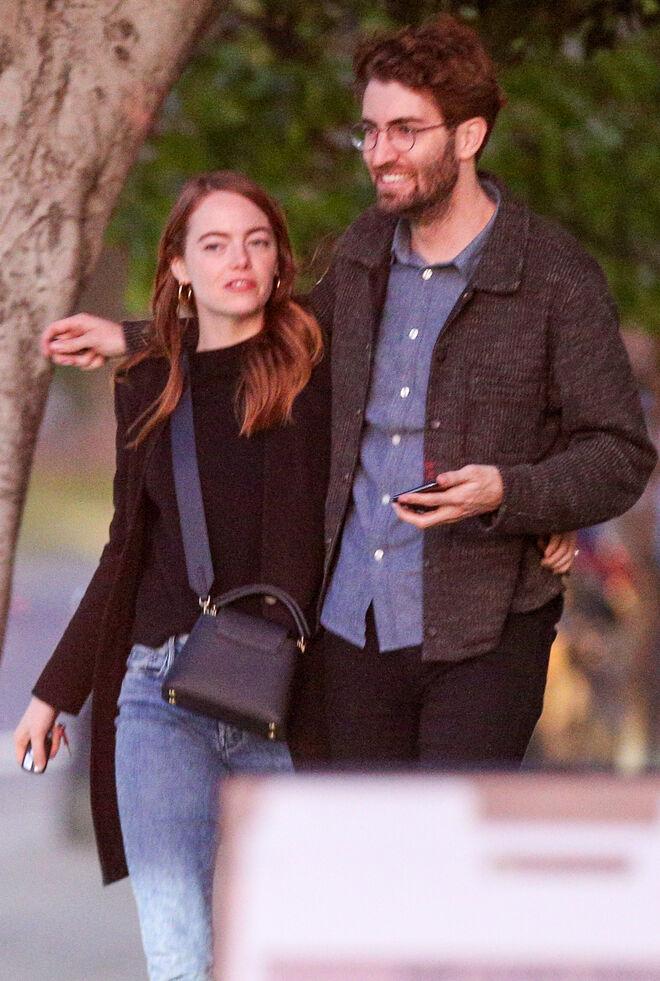 Emma Stone y Dave McCary en Los Ángeles.