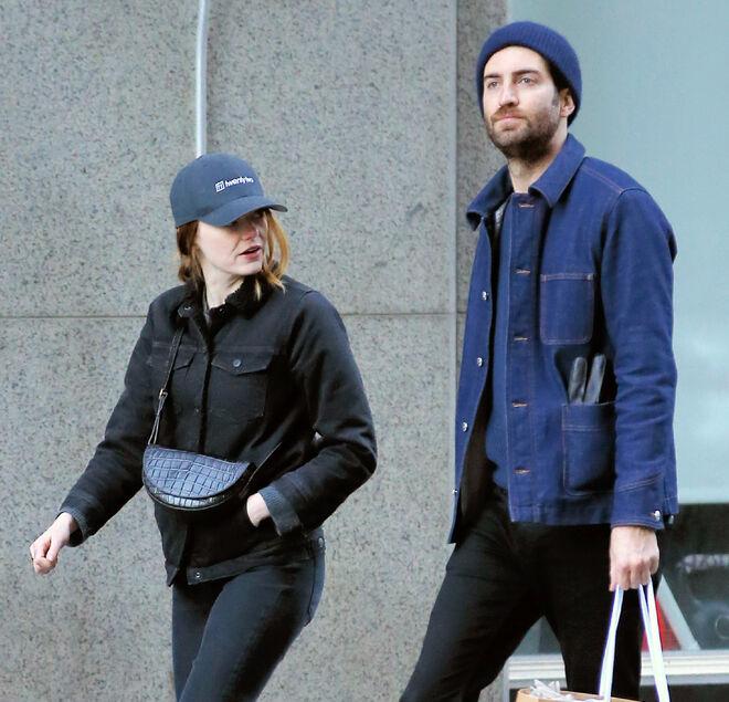 Emma Stone y Dave McCary en Nueva York
