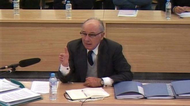 Rodrigo Rato, durante el juicio del caso Bankia.