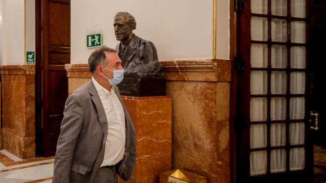 El diputado Enrique Santiago en el Congreso de los Diputados