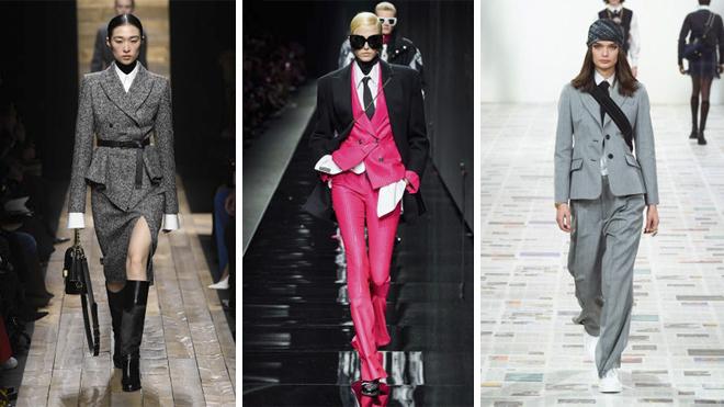 De izquierda a derecha, desfile de Michael Kors, Versace y Dior