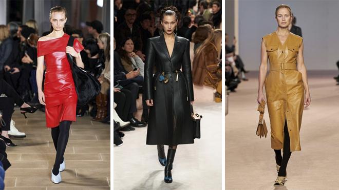 De izquierda a derecha, diseños de Proenza Schouler, Fendi y Ferragamo