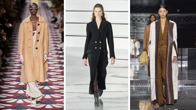 De izquierda a derecha, diseños firmados por Miu Miu, Chanel y Burberry