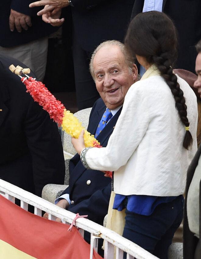 El rey Juan Carlos y Victoria Federica en 2016