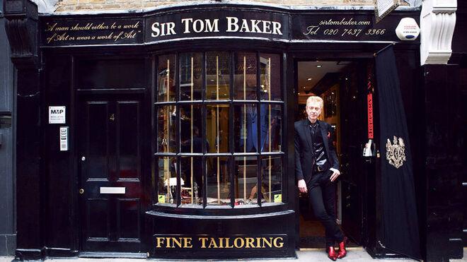 Aspecto de la fachada de la mítica sastrería de Tom Baker en Londres.