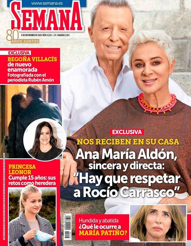 Begoña Villacís se besa con su pareja Rubén Amón.
