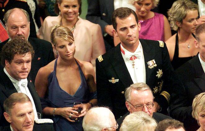 Eva Sannum y el entonces príncipe Felipe VI