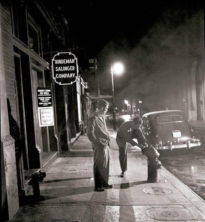 Fotografía nocturna del boxeador Walter Cartier, realizada en octubre de 1947.