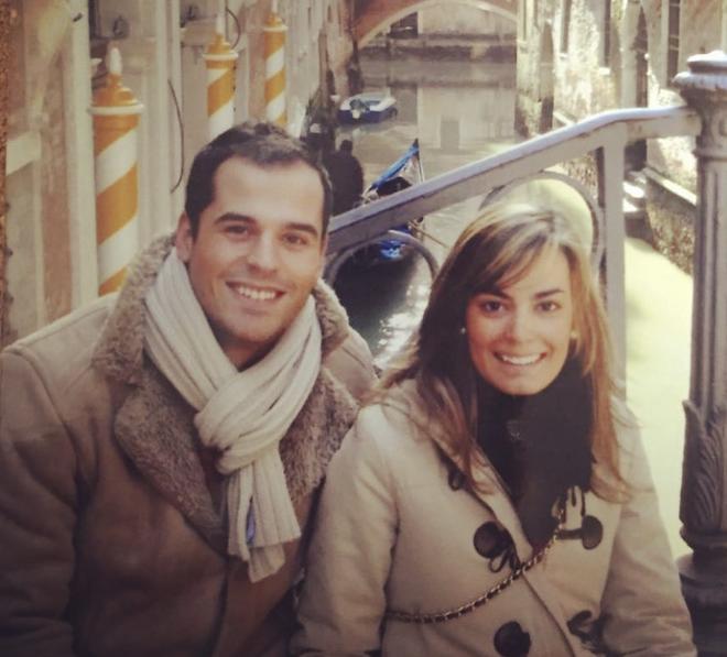 Ignacio Aguado y su mujer de jóvenes