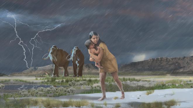 Ilustración de cómo pudo ser aquella escena hace 11.500 años