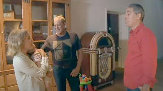 Josep María Mainat y Angela Dobrowolski, junto a Albert Om en el programa 'El convidat' de TV-3