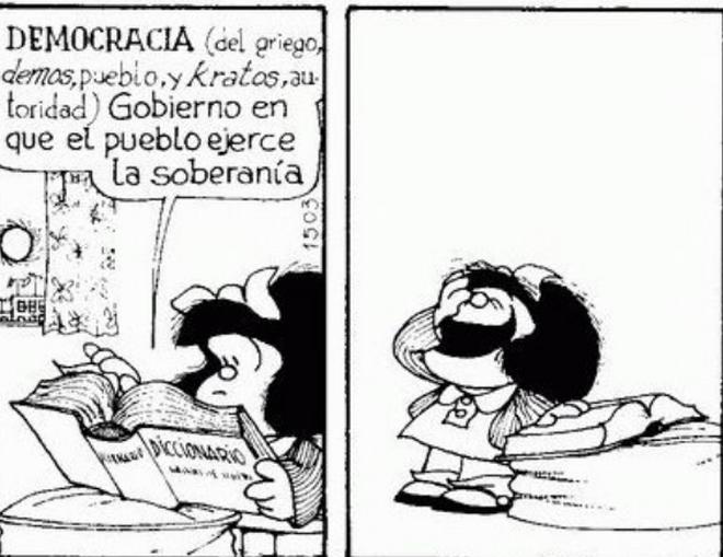 Mafalda, n otra viñeta de Quino.