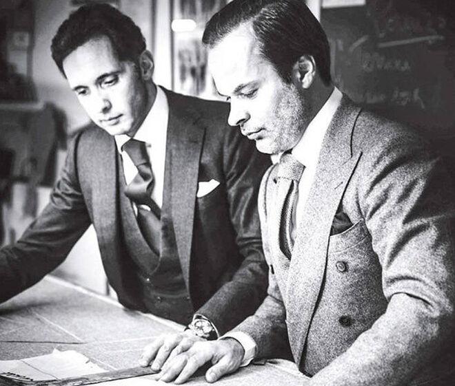Massimo y Lorenzo, los timones de la legendaria firma de sastrería francesa.