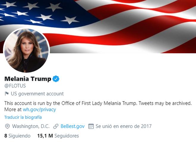 Melania Trump en Twitter
