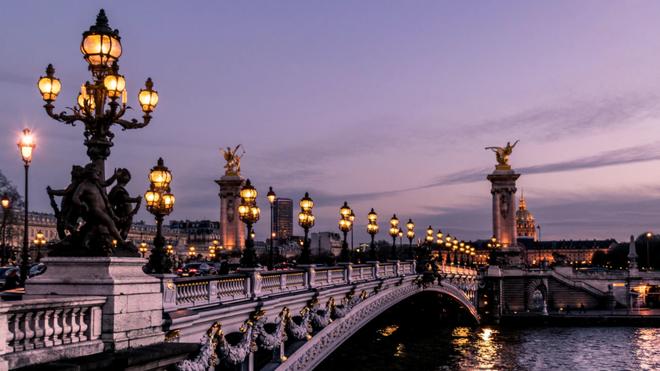 Puente de Alejandro III, París.